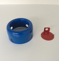 Red and Blue Powder Coating