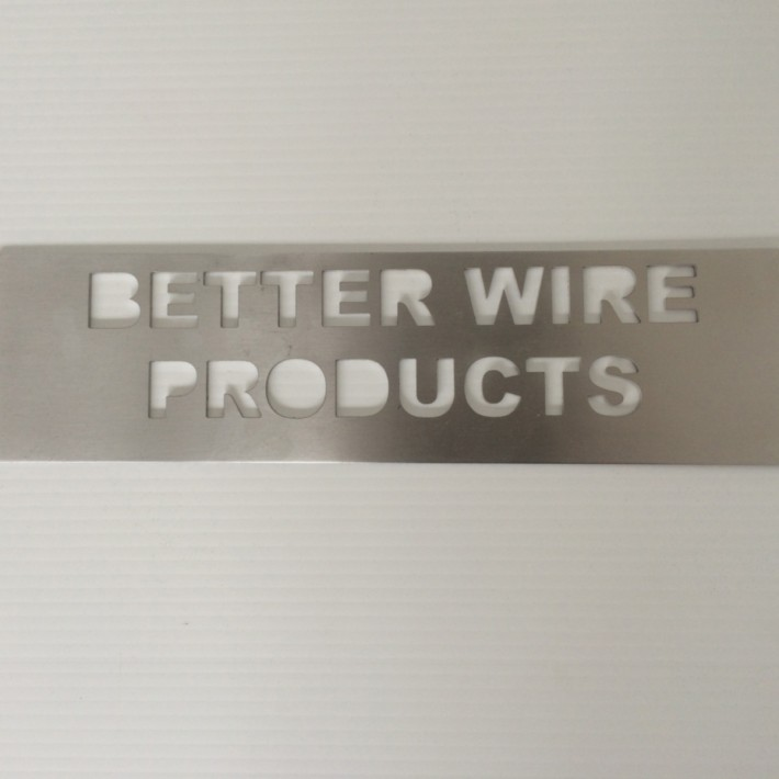 Brushed Aluminum Letters